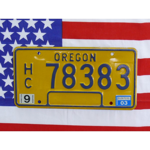 Americká SPZ Oregon 78383