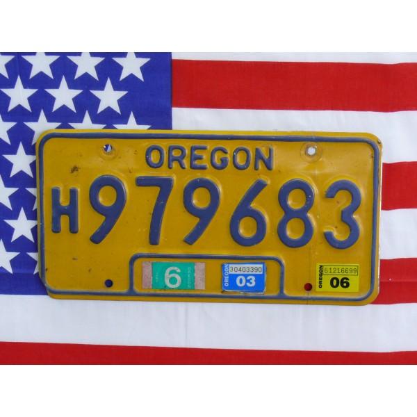 Americká SPZ Oregon 979683