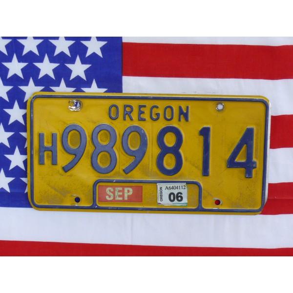 Americká SPZ Oregon 989814