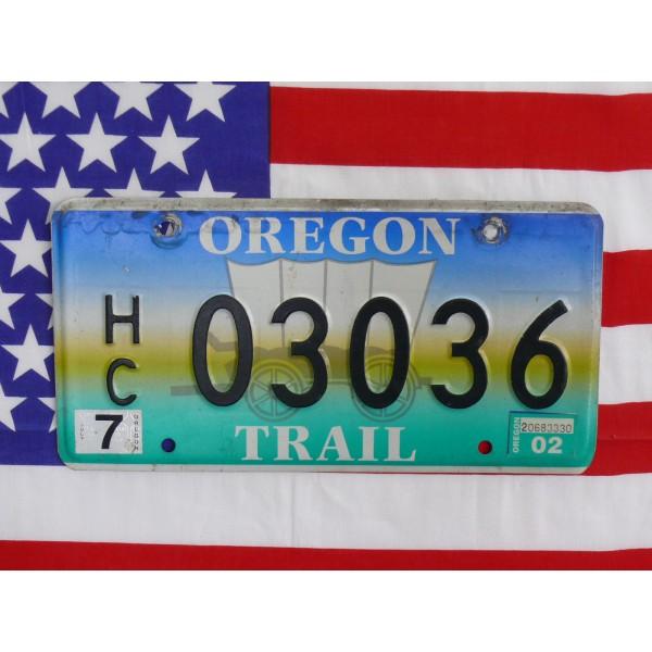 Americká SPZ Oregon 03036