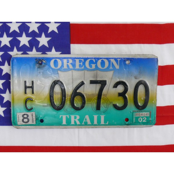 Americká SPZ Oregon 06730