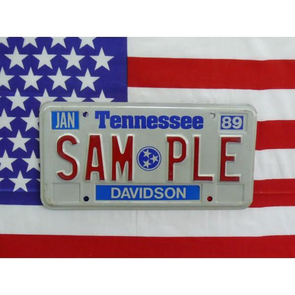 Americká SPZ Tennessee sample