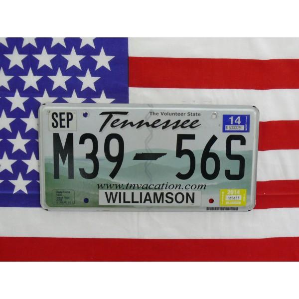 Americká SPZ Tennessee m3956s