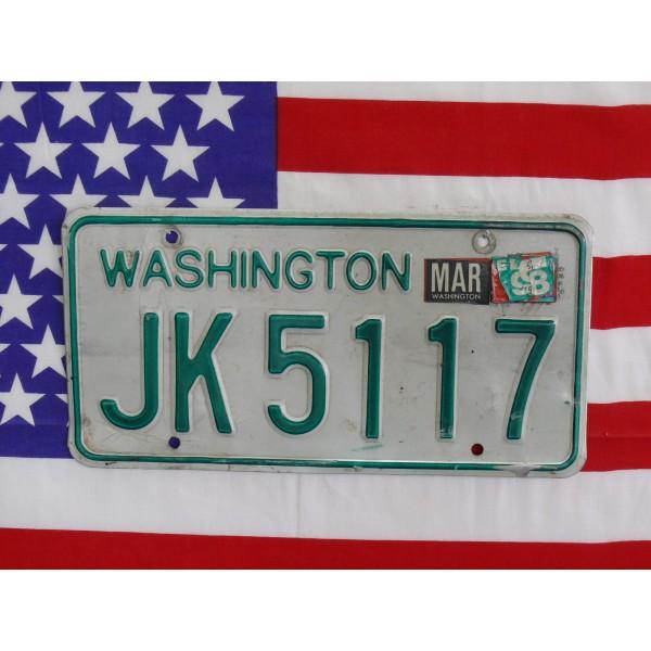 Americká SPZ Washington jk5117