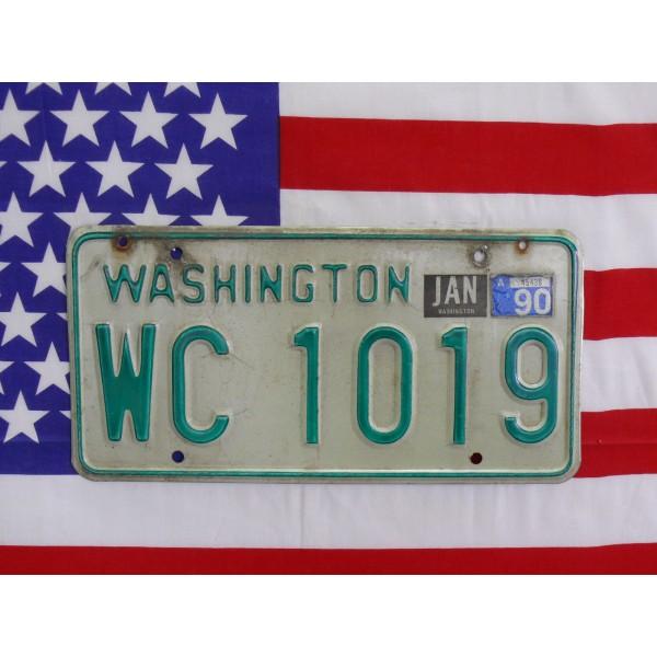 Americká SPZ Washington wc1019