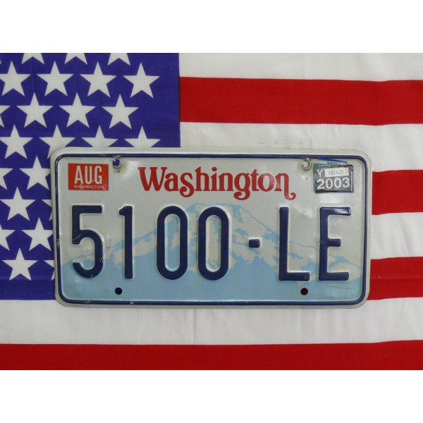 Americká SPZ Washington 5100le