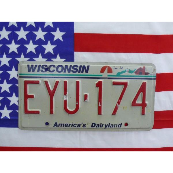 Americká spz Wisconsin eyu174