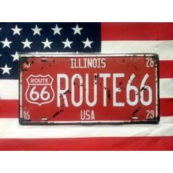 Route 66 americká reklamní spz