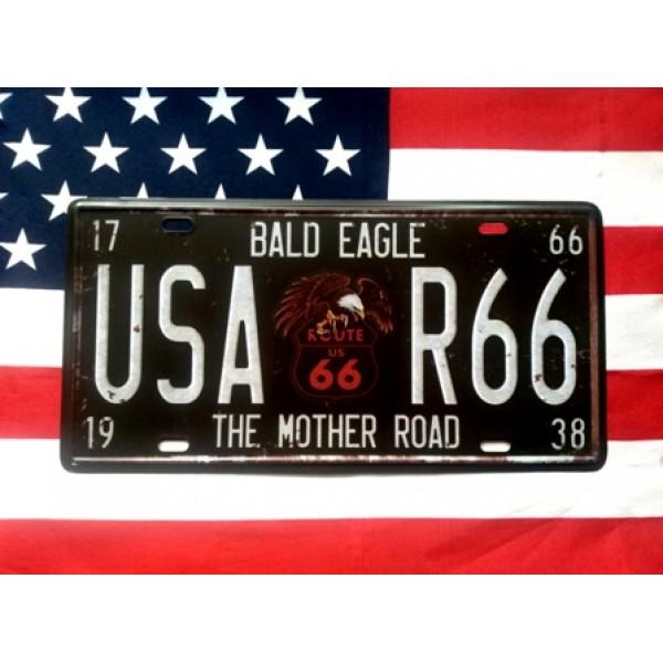USA R66 americká reklamní spz