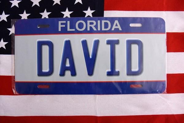 Reklamní spz Florida David