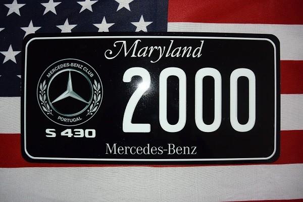 Reklamní spz Mercedes Benz