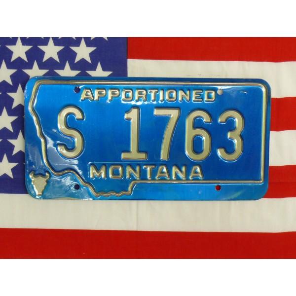 Americká spz Montana s1763