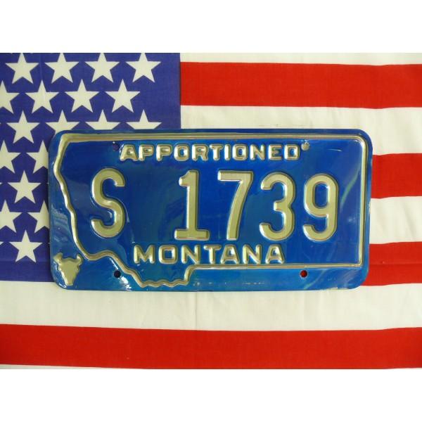 Americká spz Montana s1739