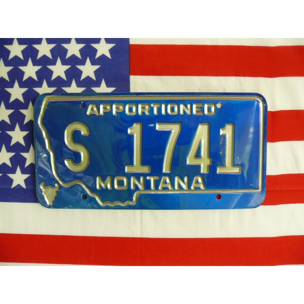 Americká spz Montana s1741