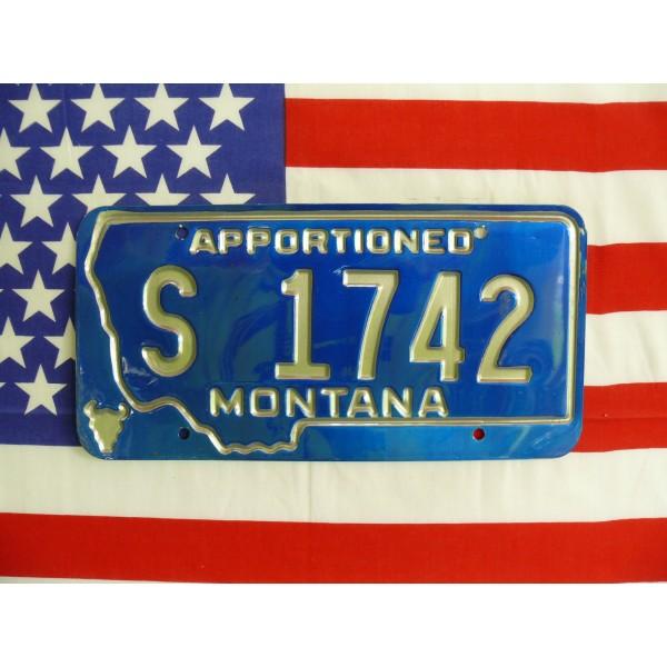 Americká spz Montana s1742a