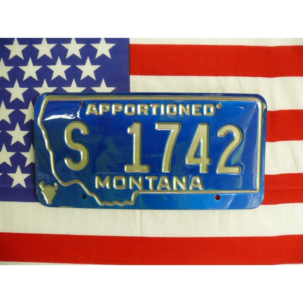 Americká spz Montana s1742
