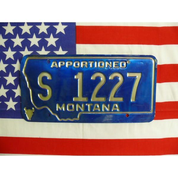 Americká spz Montana s1227