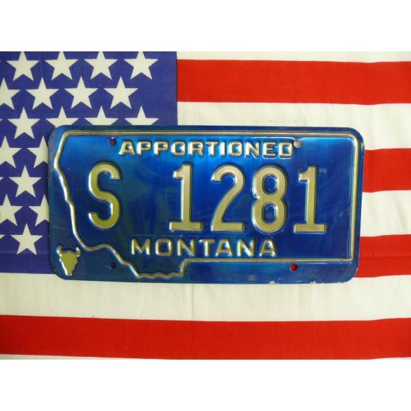 Americká spz Montana s1281