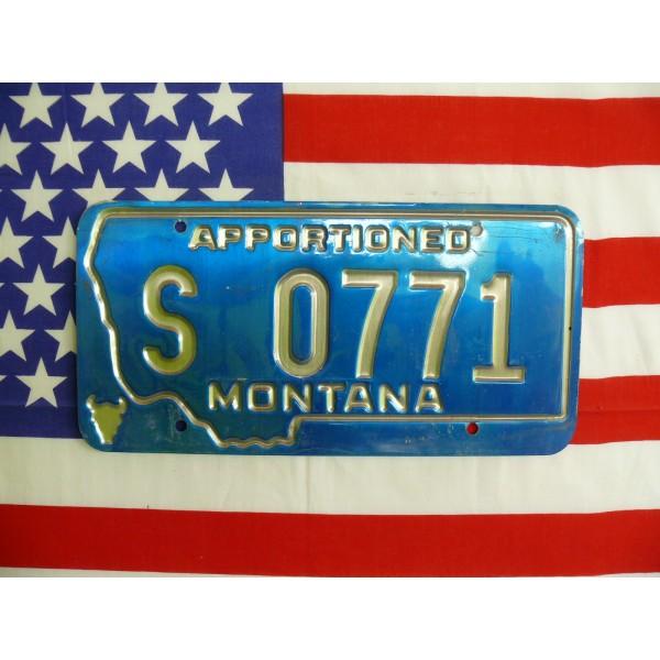 Americká spz Montana s0771