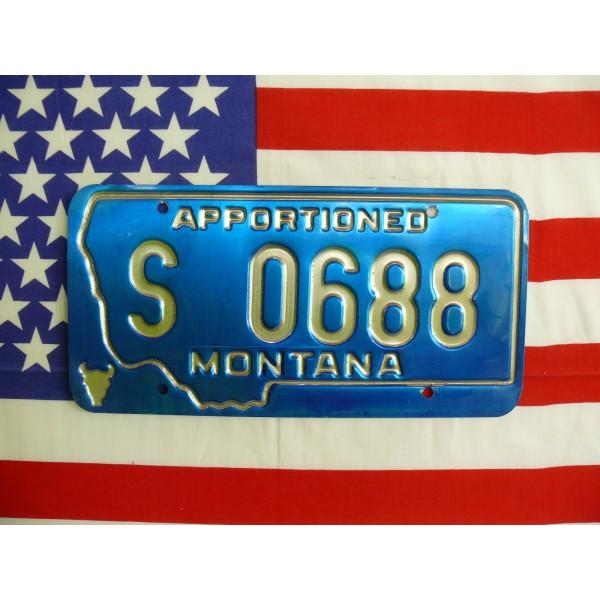 Americká spz Montana s0688a