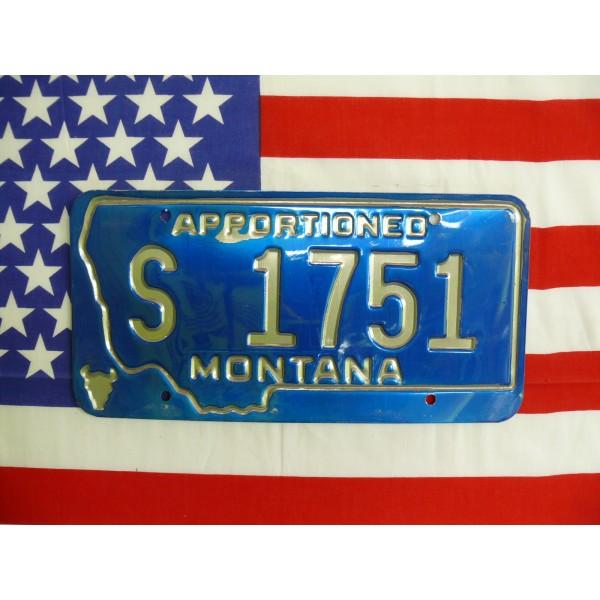 Americká spz Montana s1751
