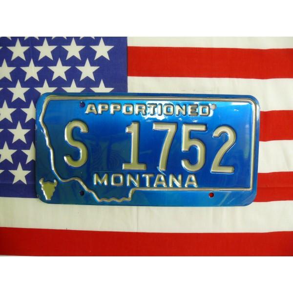 Americká spz Montana s1752