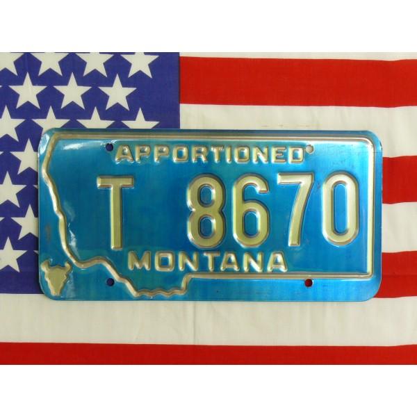 Americká spz Montana t8670