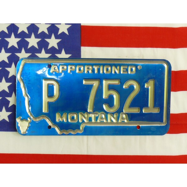 Americká spz Montana p7521