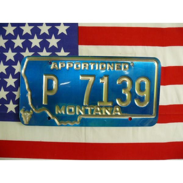 Americká spz Montana p7139