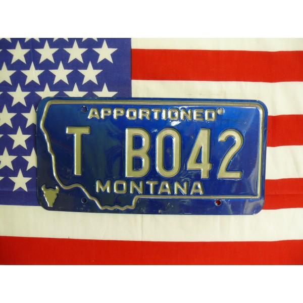 Americká spz Montana tb042