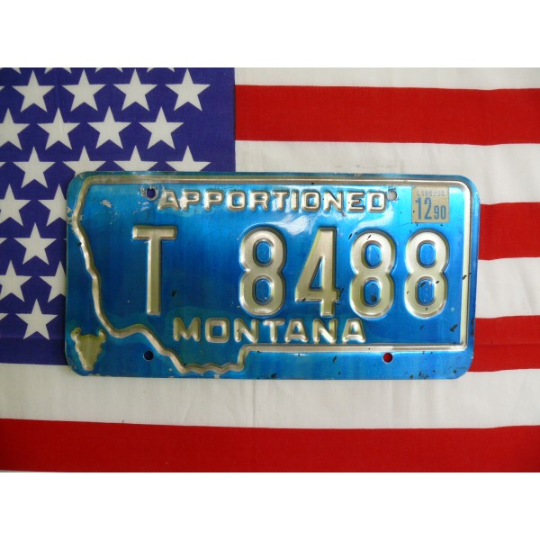 Americká spz Montana t8488