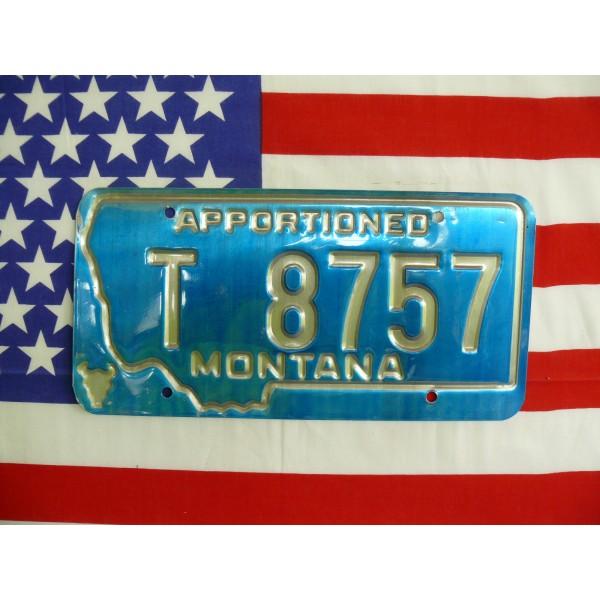 Americká spz Montana t8757