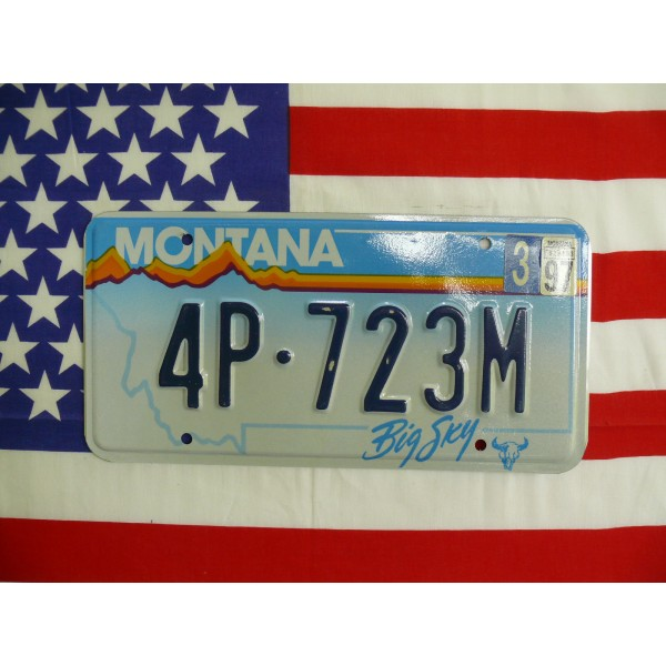 Americká spz Montana 4p 723m
