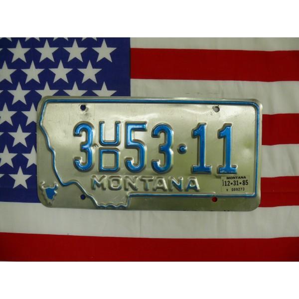 Americká spz Montana 3ud53-11