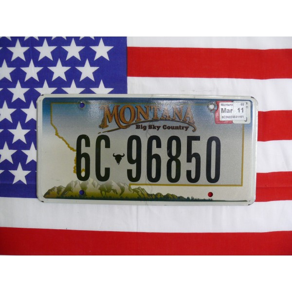 Americká spz Montana 6c-96850
