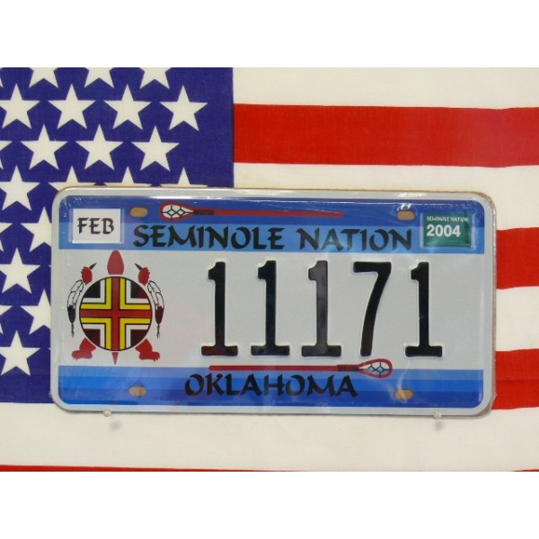 Replika americké poznávací značky