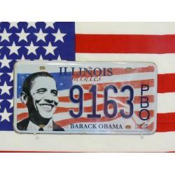 Replika americké poznávací značky Obama