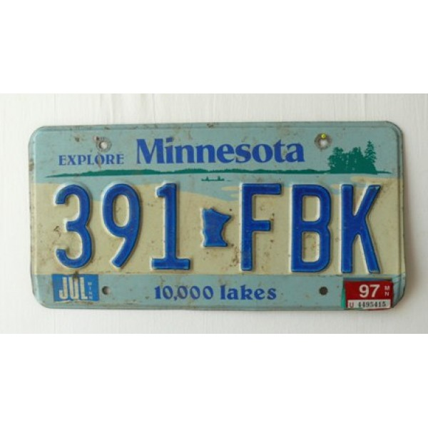 Americká spz Minnesota