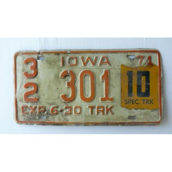 Americká SPZ Iowa 1971