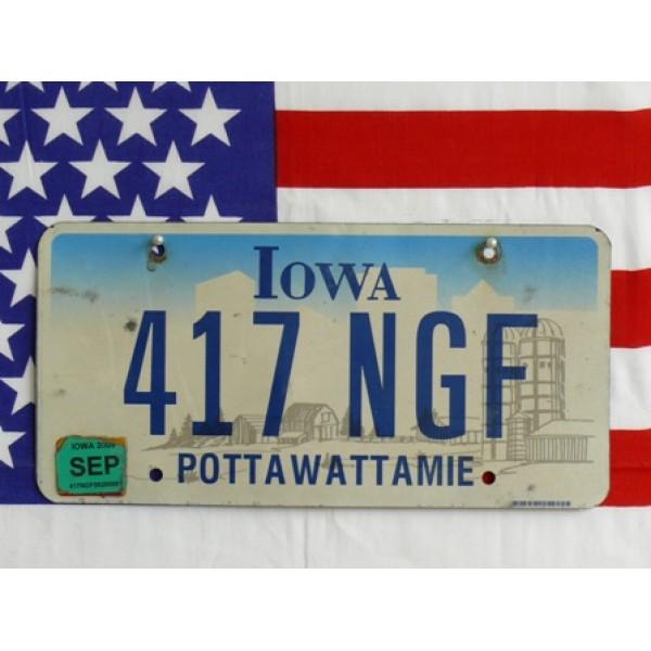 Americká registrační značka Iowa