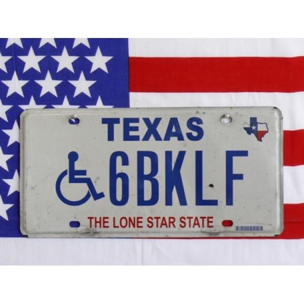 Americká poznávací značka Texas