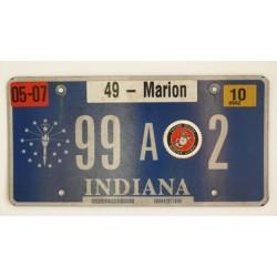 Americká SPZ Indiana Marine