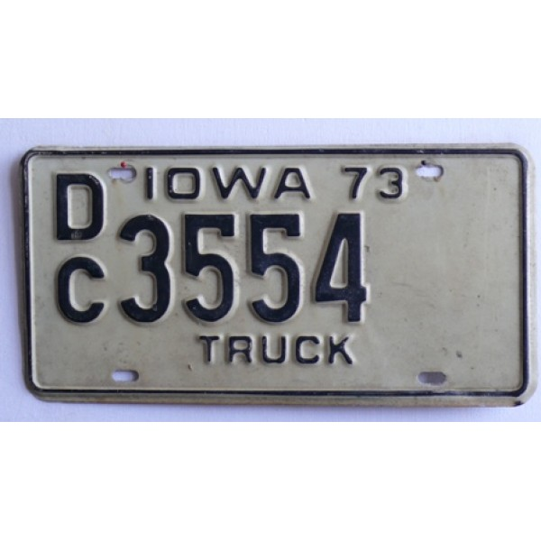 Americká SPZ Iowa truck .73