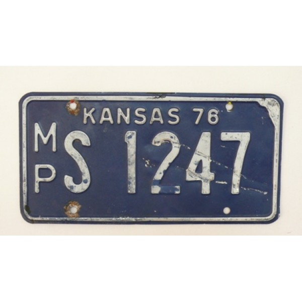 Americká SPZ Kansas 1976