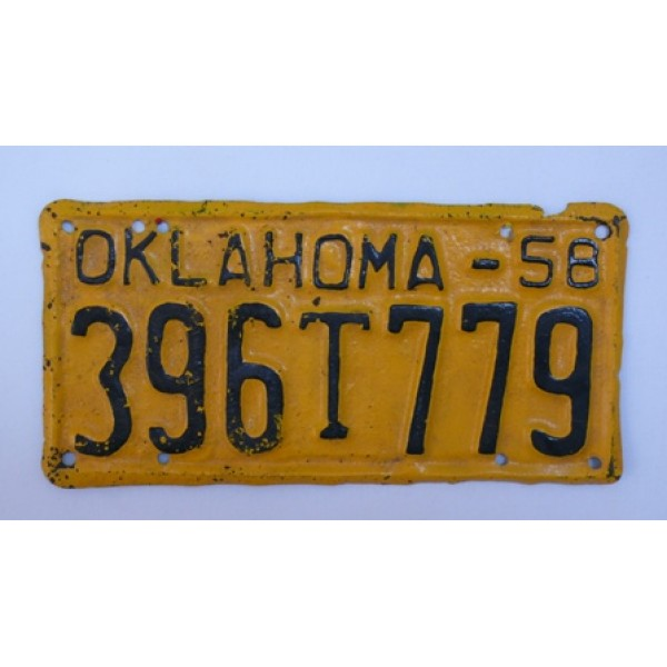 Americká SPZ Oklahoma 1958