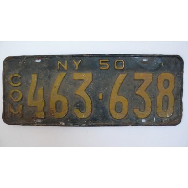 Americká SPZ New York historická 1950
