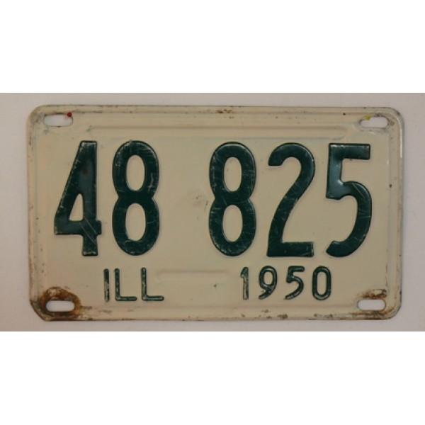 Americká SPZ Illinois 1950