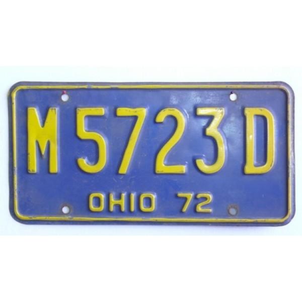Americká spz  Ohio historická 1972
