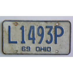 Americká spz  Ohio historická 1969