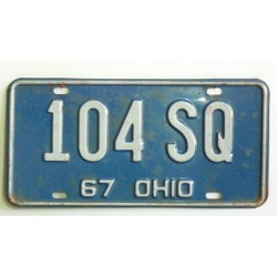 Americká spz  Ohio historická 1967